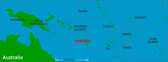 Calling All Digital Jedis Support Recovery Efforts In Vanuatu - Vanuatu map
